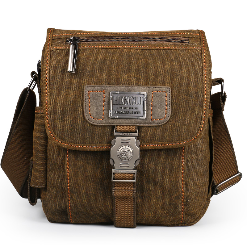 Men bag canvas shoulder bags leisure wear resistant retro cross messenger Vintage bag casual fashion crossbody Bag in Crossbody Bags from Luggage Bags