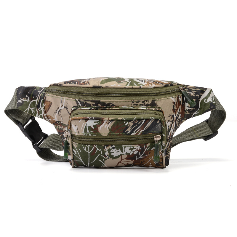 High Quality Practical Camouflage Fanny Pack Waist Bag Bananka Waterproof Antitheft Men Women Walking Mountaineering Belly Band