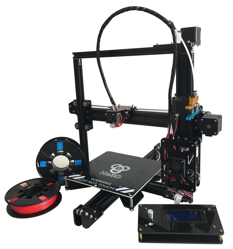 2017 the Newest design I3 Aluminium Extrusion 3D Printer kit printer 3d printing 2 Rolls Filament 8GB SD card LCD As Gift