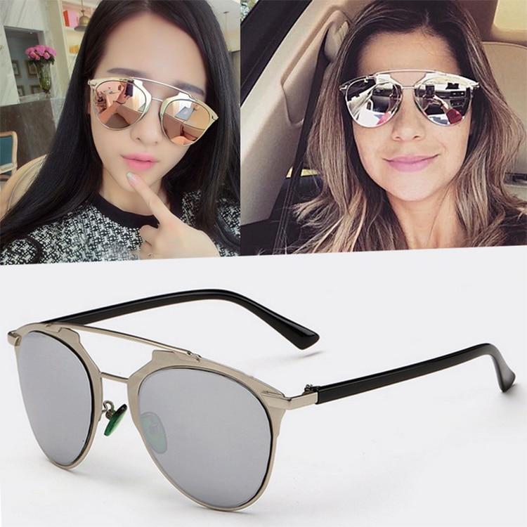 da255766d2f New Fashion Classic Unisex Women Cat Eye Mirror Vintage Retro Oversized  Glasses Sunglasses Shades Eyewear