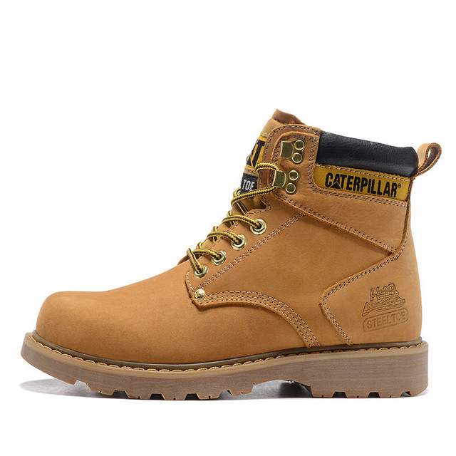 Cat Footwear Men Classic Genuine Cow Leather Working Casual Safety