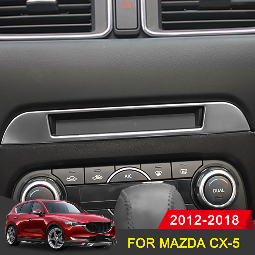 Car Middle CD Console Dashboard Trim Sticker For <font><b>Mazda</b></font> <font><b>CX</b></font>-<font><b>5</b></font> CX5 2017 <font><b>2018</b></font> 2019 <font><b>Accessories</b></font> <font><b>Interior</b></font> Decoration Frame Cover image