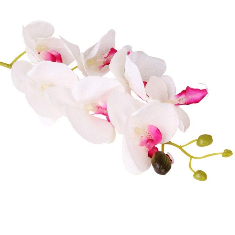 Decoración del hogar decoración del festival orquídea flores artificiales real t