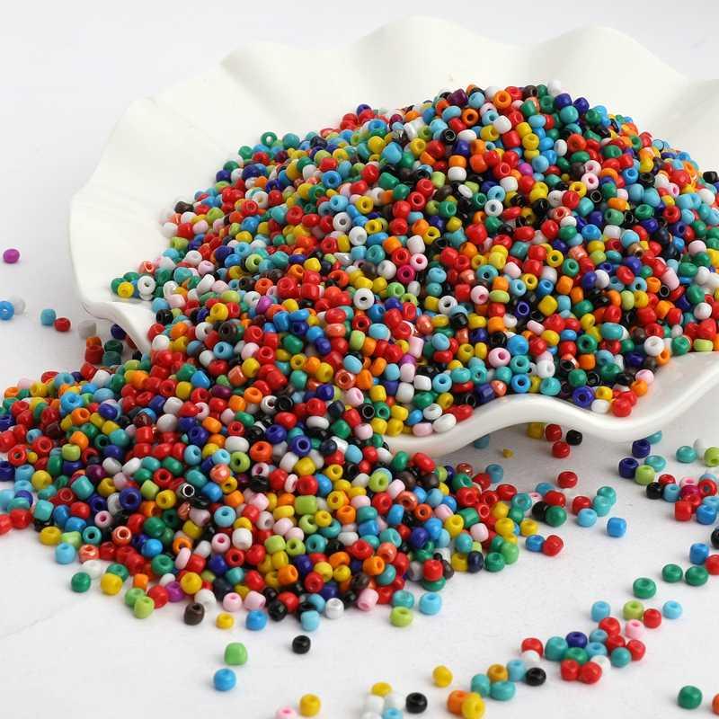 Perline distanziatore per semi di vetro ceche, 3mm, 3mm, colore solido, Austria, cristallo, foro tondo, per bambini, gioielli, fai da te, accessori