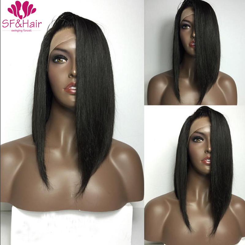 Natural Hairline Full Lace Wig font b Brazilian b font Silky font b Straight b font