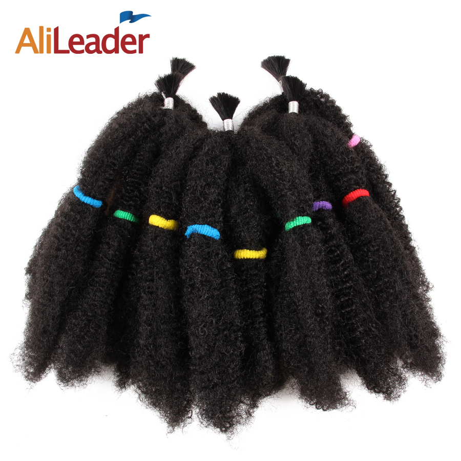 Alileader Kanekalon Afro Kinky Curly Bulk Extension Hair For Braiding 12 Inch Synthetic Hair Extensions 10Pcs/Lot Braiding Hair
