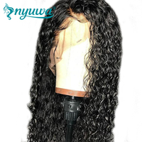 Full Lace Human Hair Wigs Pre Plucked Natural Hairline With Baby Hair Water Wave Brazilian Remy Hair Wigs Bleached Knots NYUWA