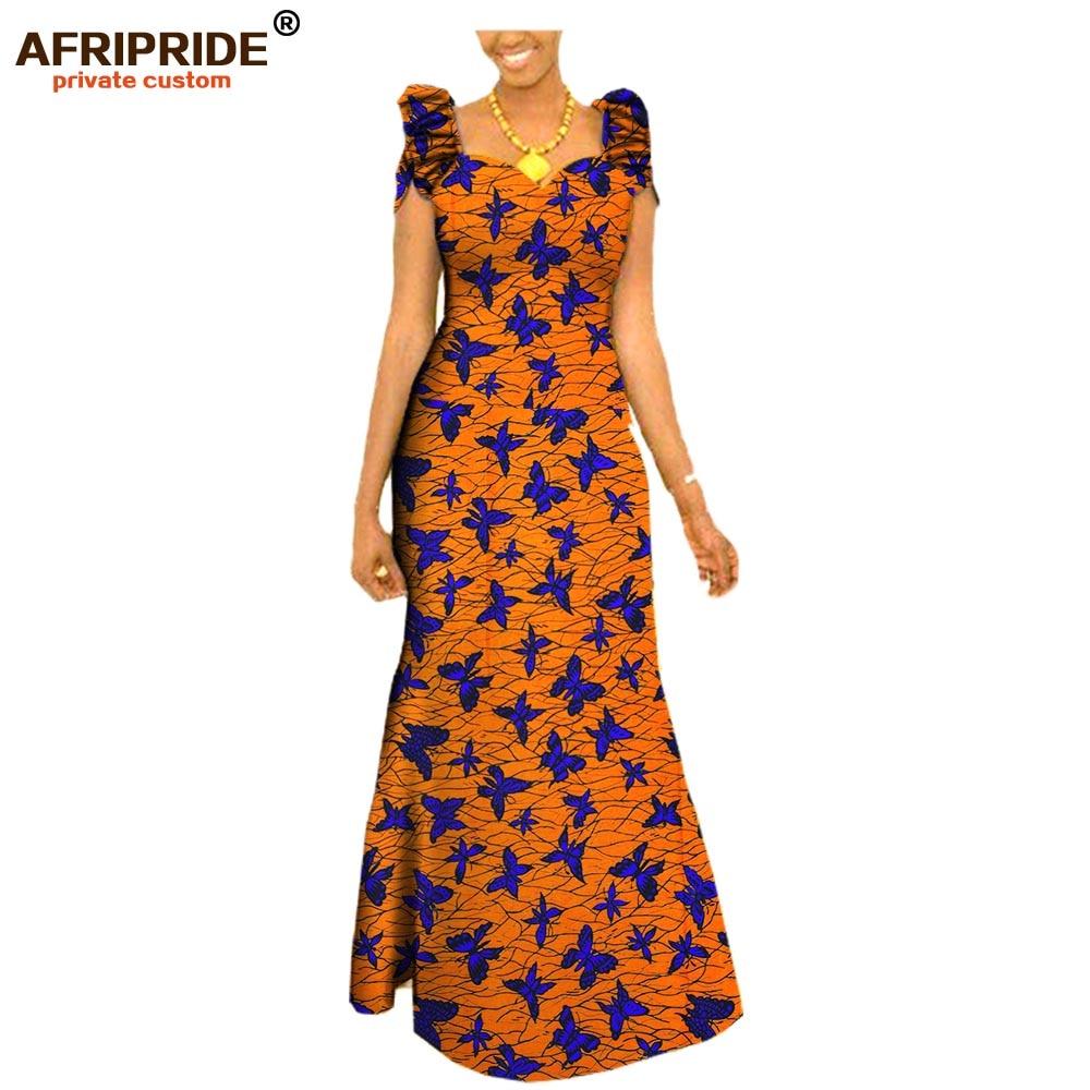 18 осень африканская одежда длинное праздничное платье для женщин с коротким рукавом украшения на плече элегантное женское платье плюс ...