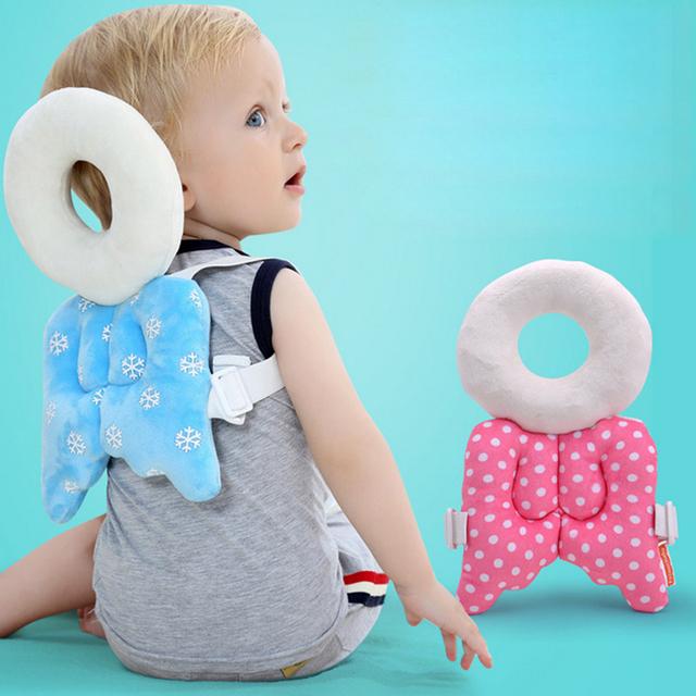 Almofada Proteção para a Cabeça do bebê Da Criança Do Bebê Travesseiro Encosto de cabeça Do Pescoço Travesseiro Bonito Asas de Enfermagem Resistência Queda