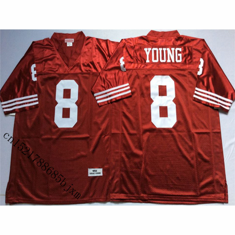 95dc69e90 Mens 1994 Retro Steve Young Stitched Name Number Throwback Football Jersey  Size M-3XL