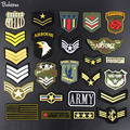 0f2a5b75 Army Military Patches Embroidery iron on sewing Flag American Air force Army  Badges for clothing accessories