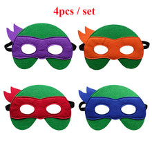 Teenage Mutant Ninja Turtles Mask Captain America Mask Kid Birthday Gift Halloween Cosplay Party Decoration Props Supplies Masks(China)