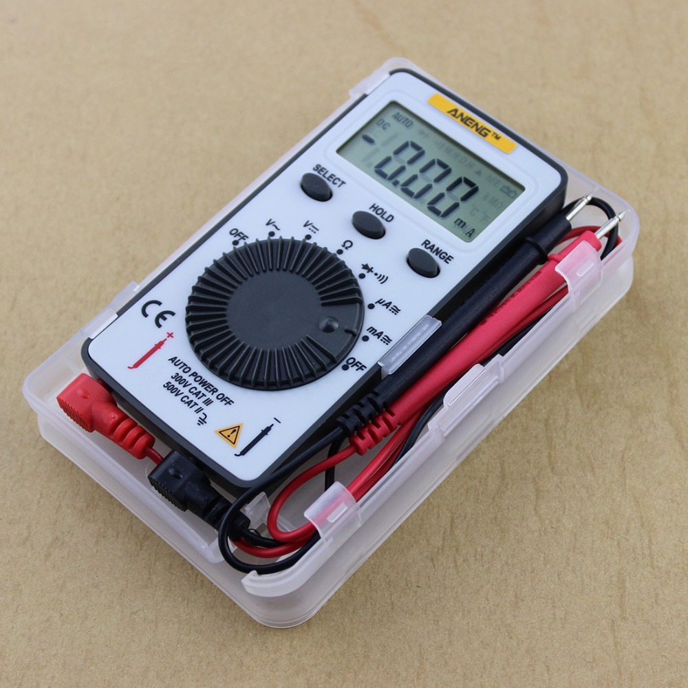 Pocket AN101 LCD Digital Multimeter Backlight AC DC Automatic Portable Meter