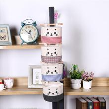 New Cotton Cartoon Cat Hanging Storage Bag Debris Pouch Wall Combination Ideal For Storage Sundries and small item