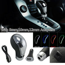 New Touch Sensitive LED Light Shifter Car Gear Shift Knob RGB 7-Color USB Charge