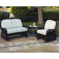 Key West Glider Garden Furniture Rattan Sofa Set