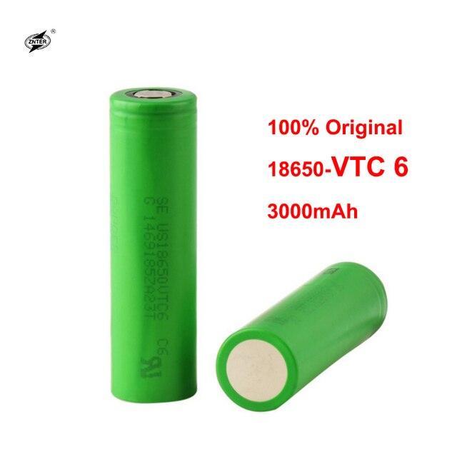 ZNTER Ban Đầu 3.7 V 3000 MAH Li Ion pin sạc 18650 Pin cho SONY us18650 vtc6 30A 3000 mAh Đồ Chơi Dụng Cụ đèn pin