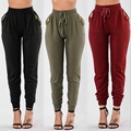 Summer Style Women Pants High Waist Elastic Pants Ladies Casual Long Pants Trousers Female Pencil Pants with Zipper Pocket 2017