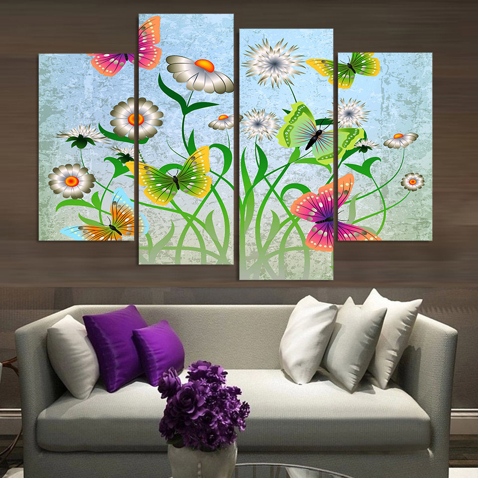 Painting Canvas For Living Room Popular Butterfly Canvas Art Buy Cheap Butterfly Canvas Art Lots