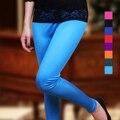 Женский двойной сталкиваются длинные брюки конфеты шелк тонкий карандаш брюки