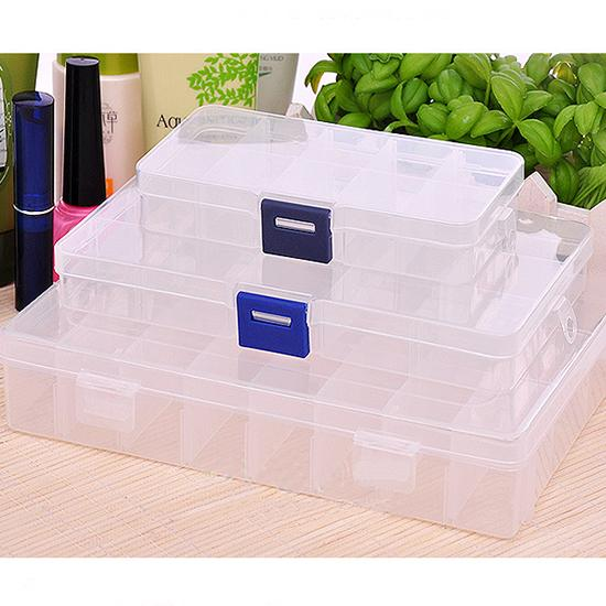 New Plastic 10 Slots Compartment Jewelry Necklace Storage Box Case Craft Organizer Container,hot selling
