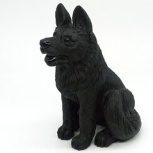 5.63 Natural Gemstone Black Obsidian Wolf Dog Figurine Carved Animal Statue Office Home Decor Healing Crystal