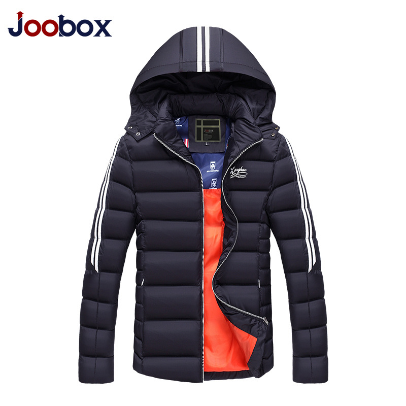 JOOBOX Brand 2017 New Arrival Fashion Thick winter jacket men Casual Solid Zipper Slim Cotton Coat men Hooded overcoat clothing 2016 new arrival men s winter jacket casual slim fit fashion solid hooded man jacket winter warm high quality m 4xl
