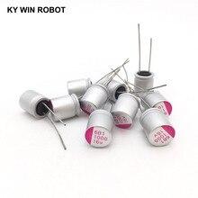 16В 1000мкФ 10*13 DIP Твердый электролитический конденсатор 1000 мкФ 16 в 10x13 мм Твердый спутный конденсатор высокого качества