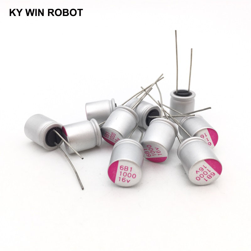 16V1000UF 10*13 DIP Solid Electrolytic Capacitor 1000UF 16V 10X13mm Solid Sate Capacitor High Quality