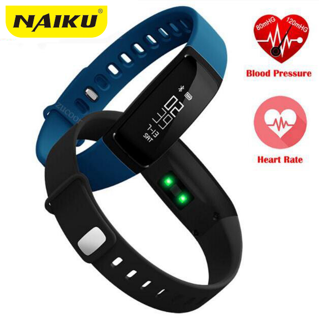 Blood Pressure Smart Wristband Pedometer Smart Bracelet Heart Rate Monitor Smart Bluetooth band Fitness For Android IOS Phone dawo ecg smart bracelet blood pressure smart wristband heart rate temperature pedometer bluetooth fitness band for ios android