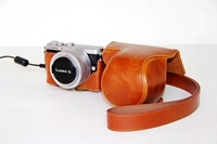 Camera Leather Case Bag For Panasonic Lumix GM1 GM5 GM2 GM1S Camera Shoulder Bag With Strap