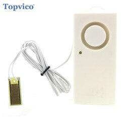 Drahtlose Wasserüberlauf Leckage Alarm Sensor Detektor 130dB Stimme Allein Wasser Alarm Home Security Alarm System