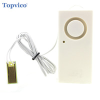 Wireless Water Overflow Leakage Alarm Sensor Detector 130dB Alarm Voice Work Alone Water Level Alarm Home