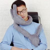 Free ship Travel Pillow of bends For Airplane Multi function Car Pillow Hand shape Neck Comfortable Memory office Pillows Head