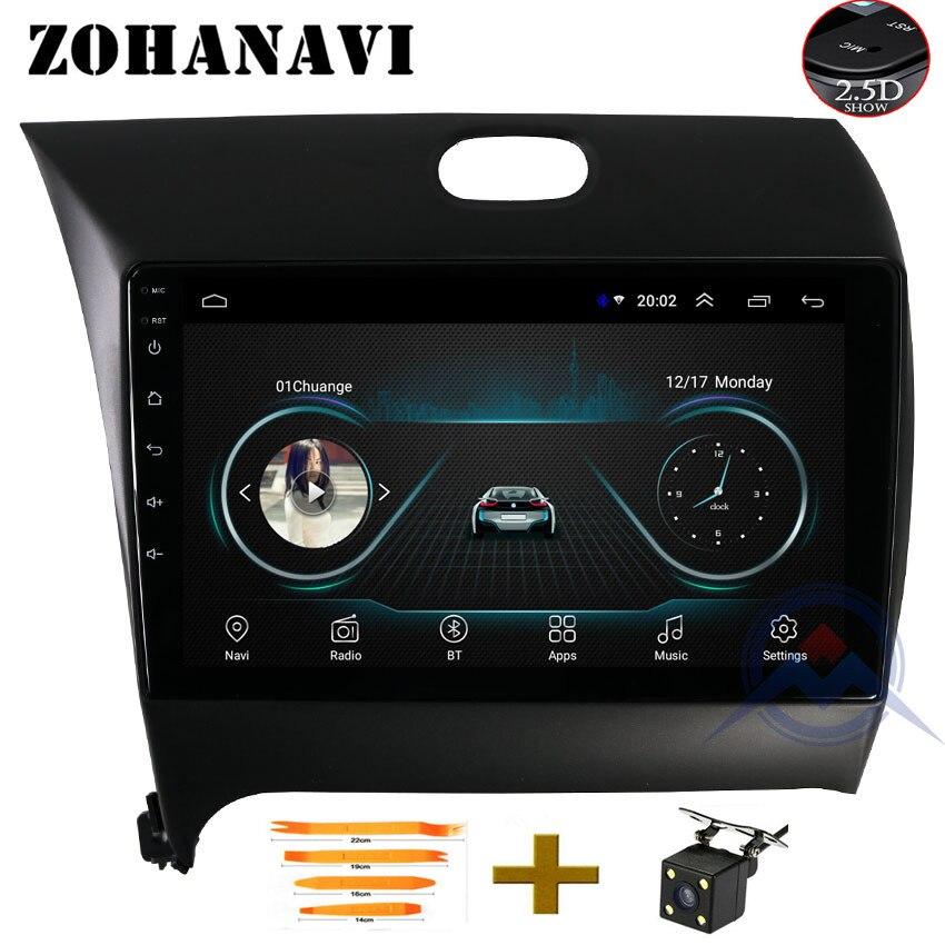ZOHANAVI 2.5D Screen Android 9 Inch Car DVD Player For Kia Cerato K3 Forte 2013 2014 2015 Radio Multimedia GPS Navigation