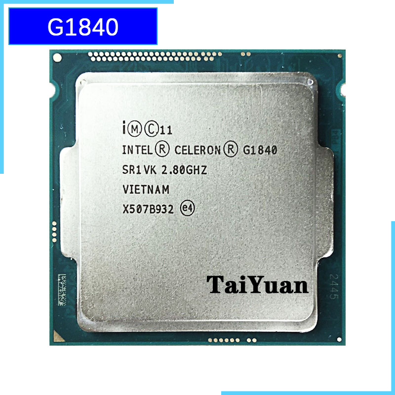 Intel Celeron G1840 2.8 GHz Dual-Core Dual-Thread CPU Processor 2M 53W LGA 1150 title=