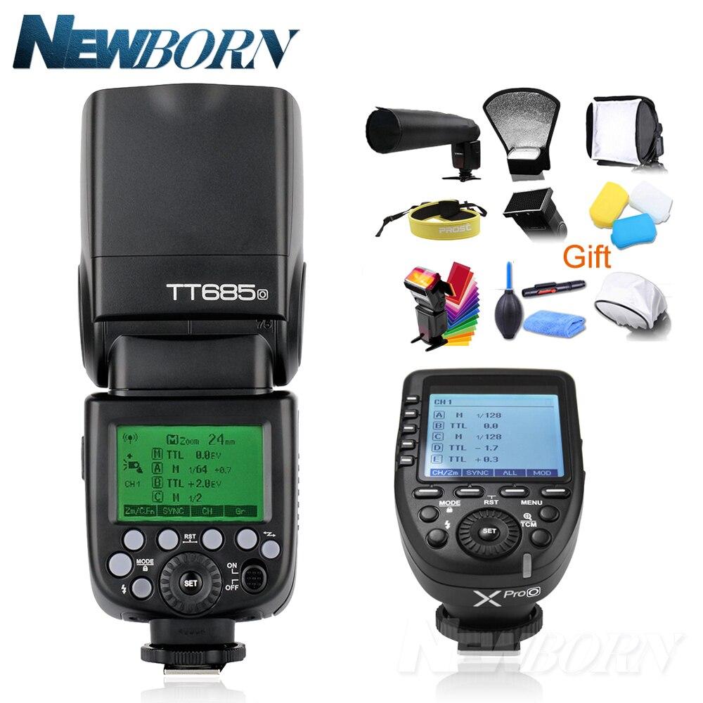 In Stock Godox TT685O 2 4G HSS TTL GN60 Flash Speedlite Xpro O Trigger Transmitter Kit