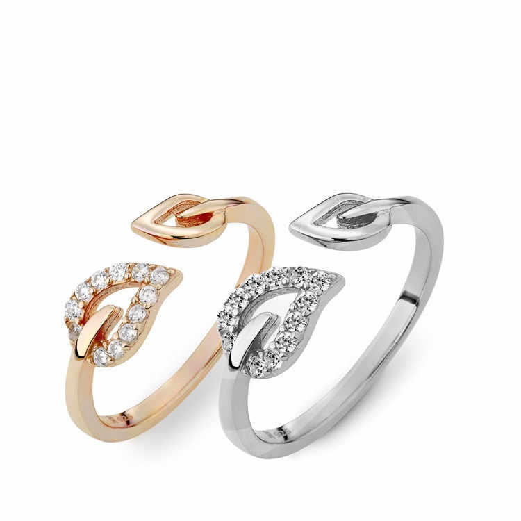 Fashion Alloy Heart Resizable Rings for Women Valentine's Gift Jewelry 2019