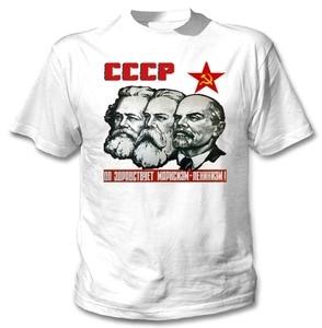 LENIN-Camiseta blanca de algodón para mujer, camiseta de gran oferta a la moda, de la Unión Soviética CCCP, 2019