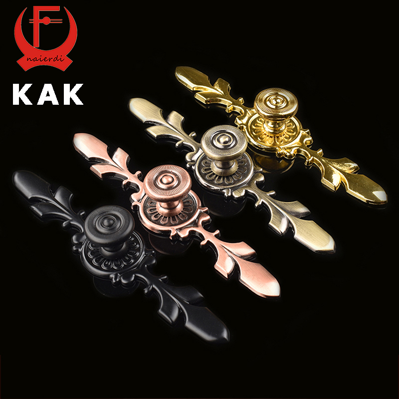 KAK 120MM Bronze Handles Kitchen Door Cupboard Zinc Alloy European Modern Wardrobe Furniture Drawer Pulls Cabinet Knobs Hardware