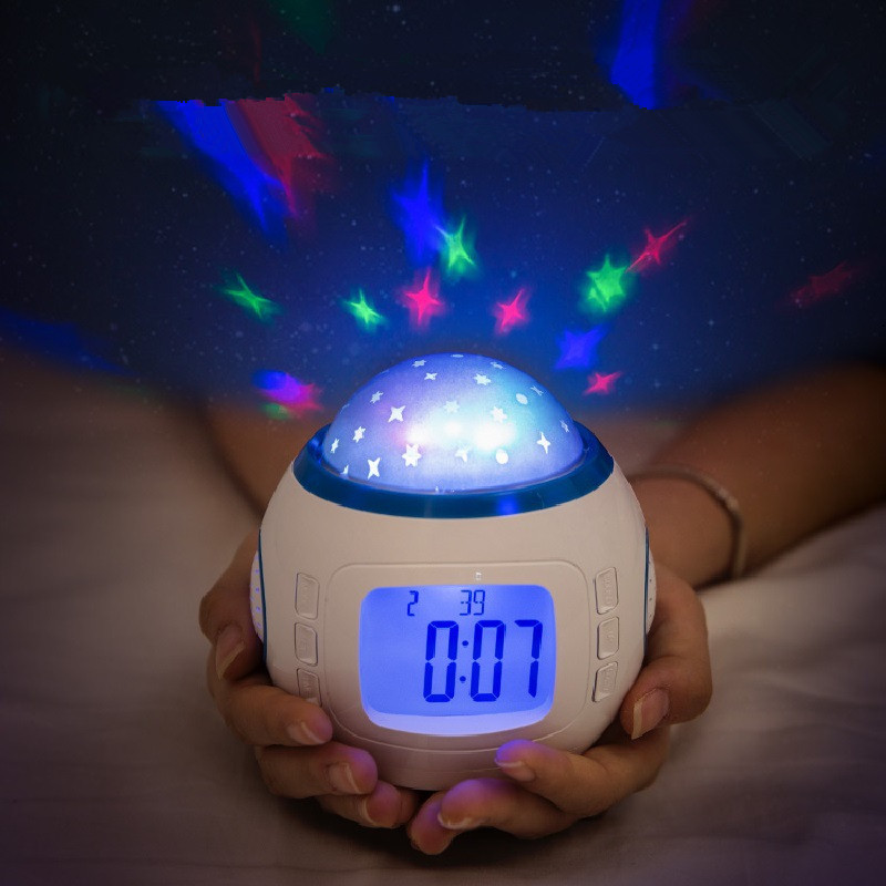 bedroom bedside lamp with new and strange starry sky Creative alarm clock led night light