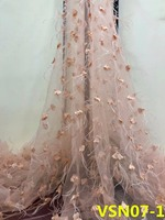 2018 NEW Beautificial Arrival fashion tulle lace 3d appliques fabric wedding nigerian net lace fabric