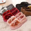 Laite Hebe 2017 New Warm Slippers Women Winter Shoes Bowtie Plush Inside Loaferes Ladies Indoor Home Slippers Ladies Slip On 200