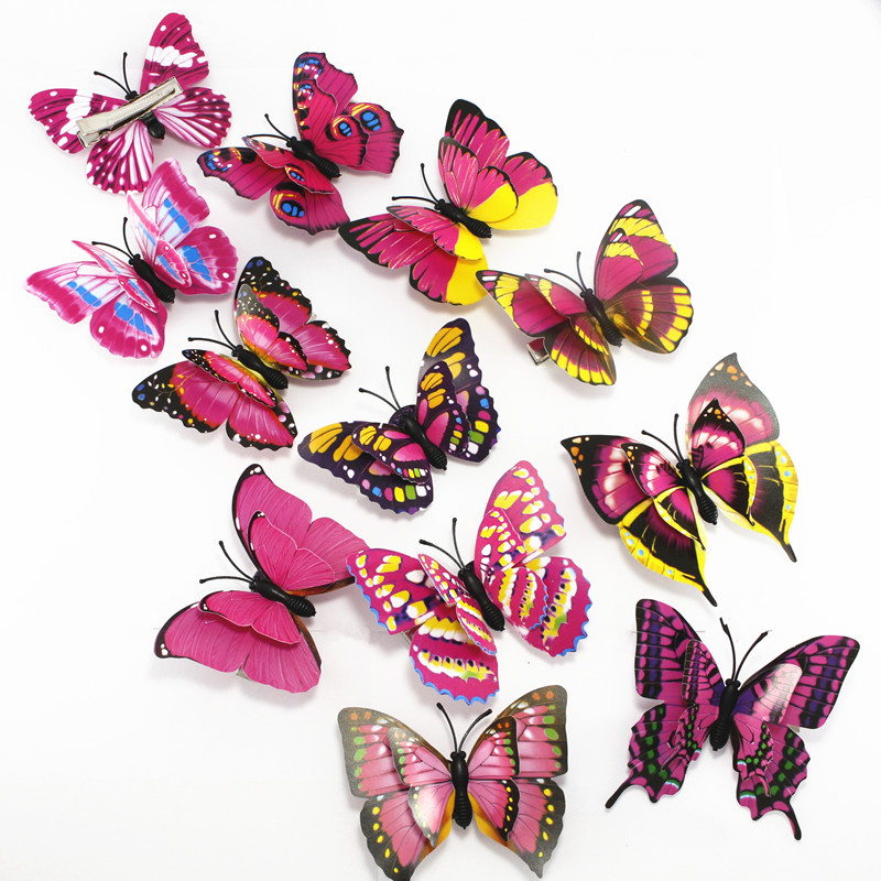 5 Multiple Color Easter decoration women girls hairpins 3D Double butterfly for girl hair clip Boutique girls Hair Accessories in Hair Accessories from Mother Kids