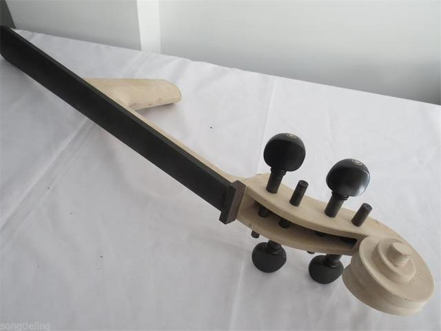 1 pcs bordo madeira Cello branco pescoço 4/4 com 4 pcs ebony pegs e fingeboard