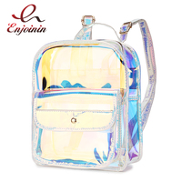 High Quality Hologram Women Backpacks PVC Laser School Backpacks For Teenagers Girls Travel Shoulder Bag Waterproof