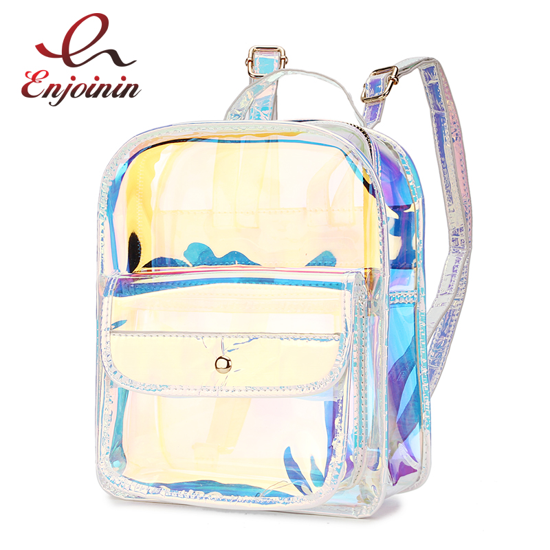 High Quality Hologram Women Backpacks PVC Laser School Backpacks For Teenagers Girls Travel Shoulder Bag Waterproof School bagHigh Quality Hologram Women Backpacks PVC Laser School Backpacks For Teenagers Girls Travel Shoulder Bag Waterproof School bag