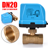 High Quality Miniature Electrical Ball Valve Brass G3/4 DN20 3/4 Inch Two Ways 220V Control Motorized Ball Valve For Water