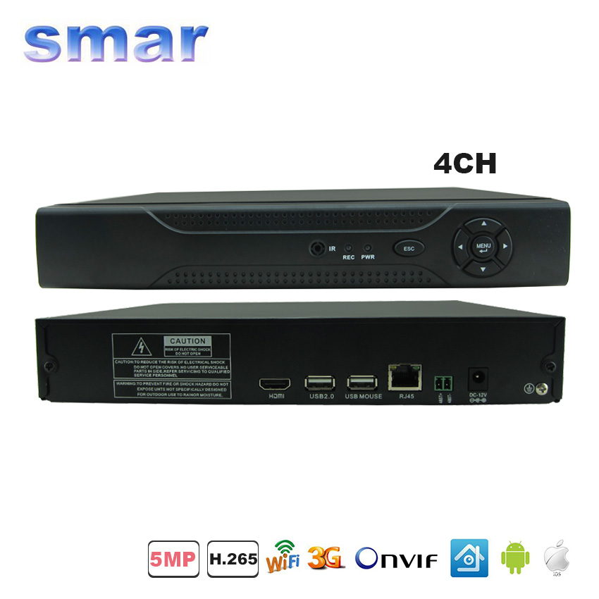 ФОТО XMEYE Cloud 3G WIFI H.265 Network DVR 4 Channel 5MP CCTV NVR System For H.265 H.264 5MP/3MP IP Camera Onvif RS485 PTZ
