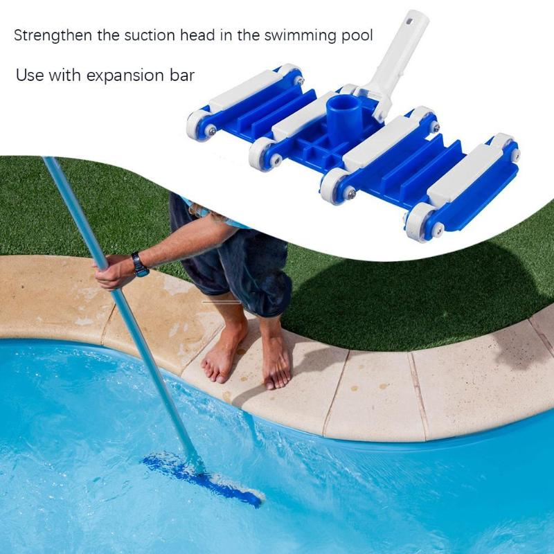14 InchSwimming Pool Flexible Vacuum Head With Brush Cleaner Pond Spa Sewage Suction Pool Accessories For Cleaning Debris